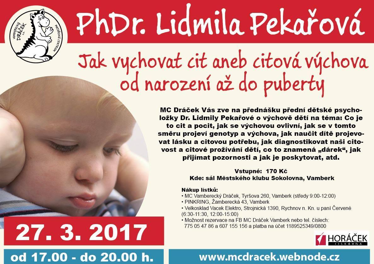 Přednáška PhDr. L. Pekařová