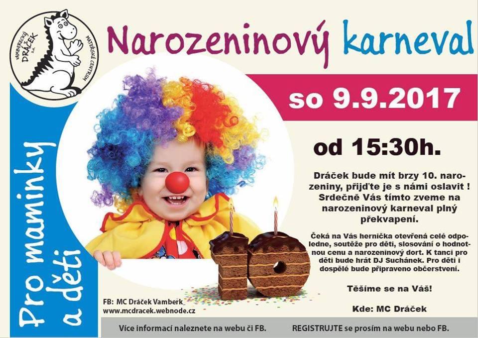 09.09.2017 - Narozeninový karneval - MC Dráček