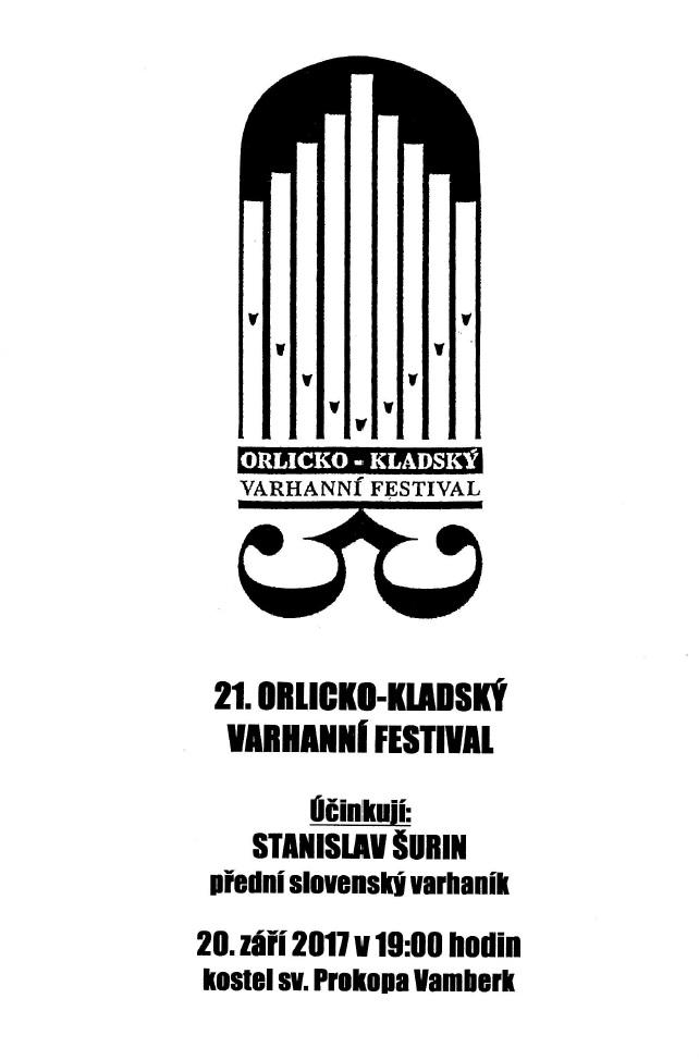 20.09.2017 - 21. Orlicko-kladský varhanní festival