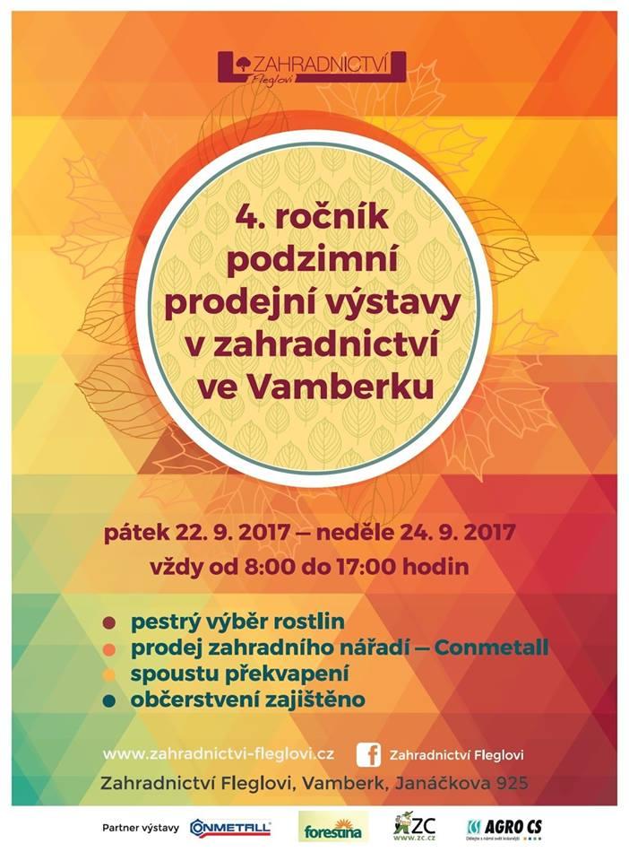 22. - 24.09.2017 - Podzimní prodejní výstava Fleglovi