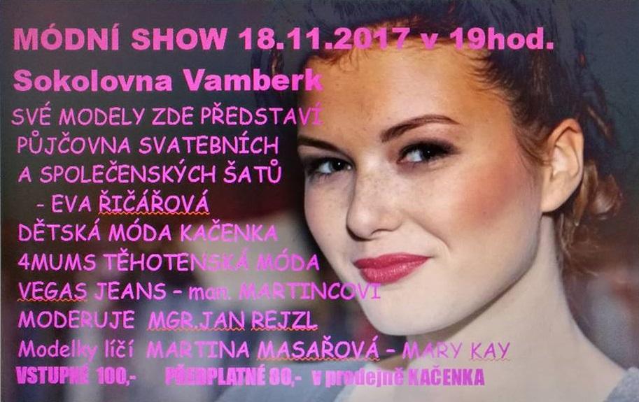 18.11.2017 - Módní show Vlasty Frejvaldové