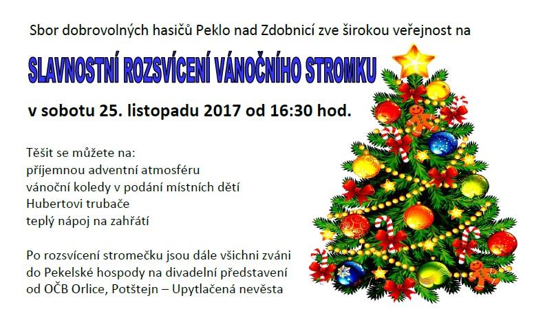 25.11.2017 - rozsvícení vánočního stromu Peklo