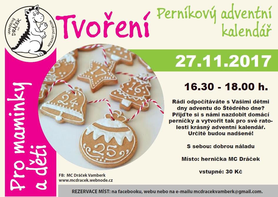 27.11.2017 - Perníkový adventní kalendář - MC Dráček