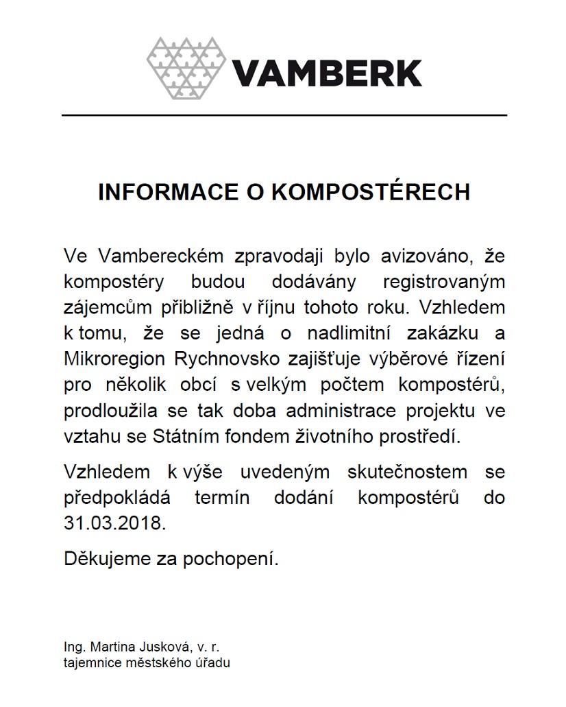 Informace - kompostéry