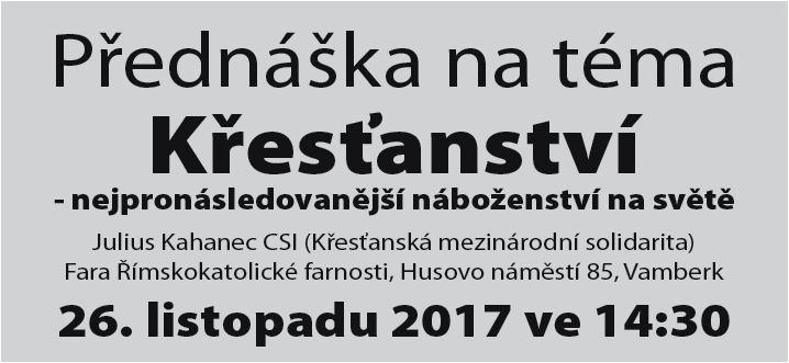26.11.2017 - Přednáška - Křesťanství