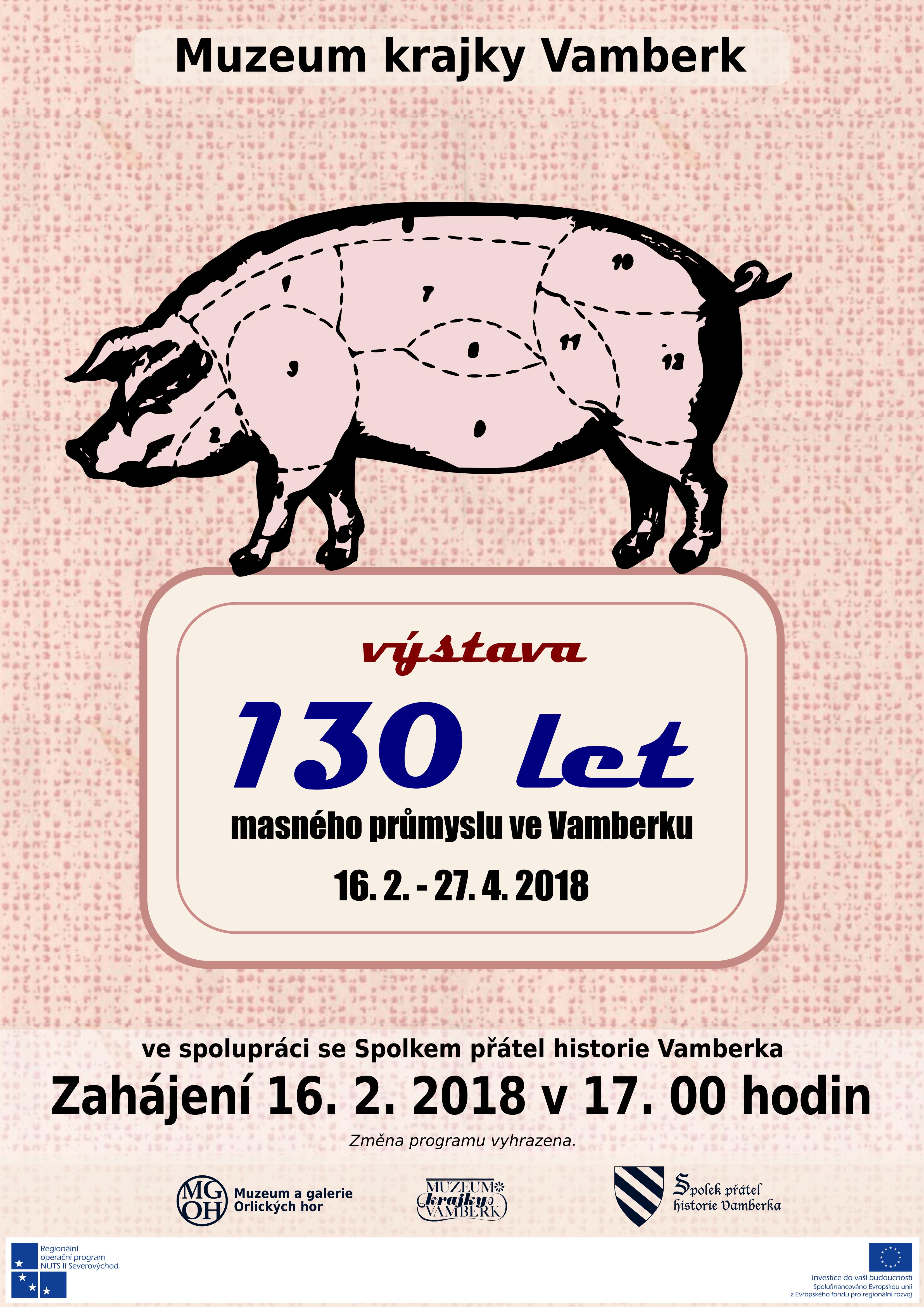 16.02. - 27.04.2018 - Výstava 130 let masného průmyslu