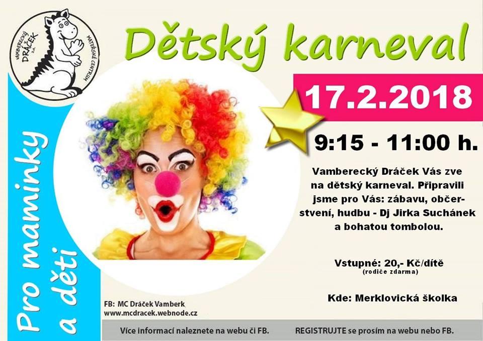 16.02.2018 - Dětský karneval - MC Dráček