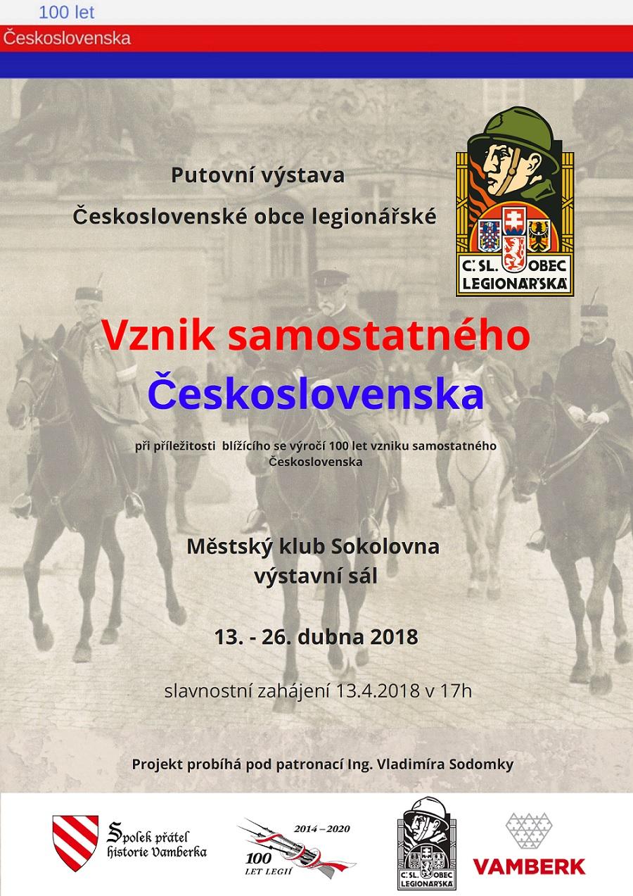 13. -26.04.2018 - Vznik samostatného Československa