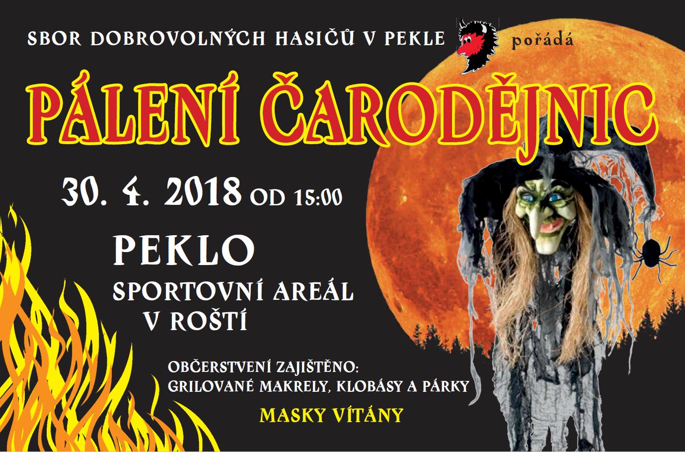 30.04.2018 - Čarodějnice - SDH Peklo