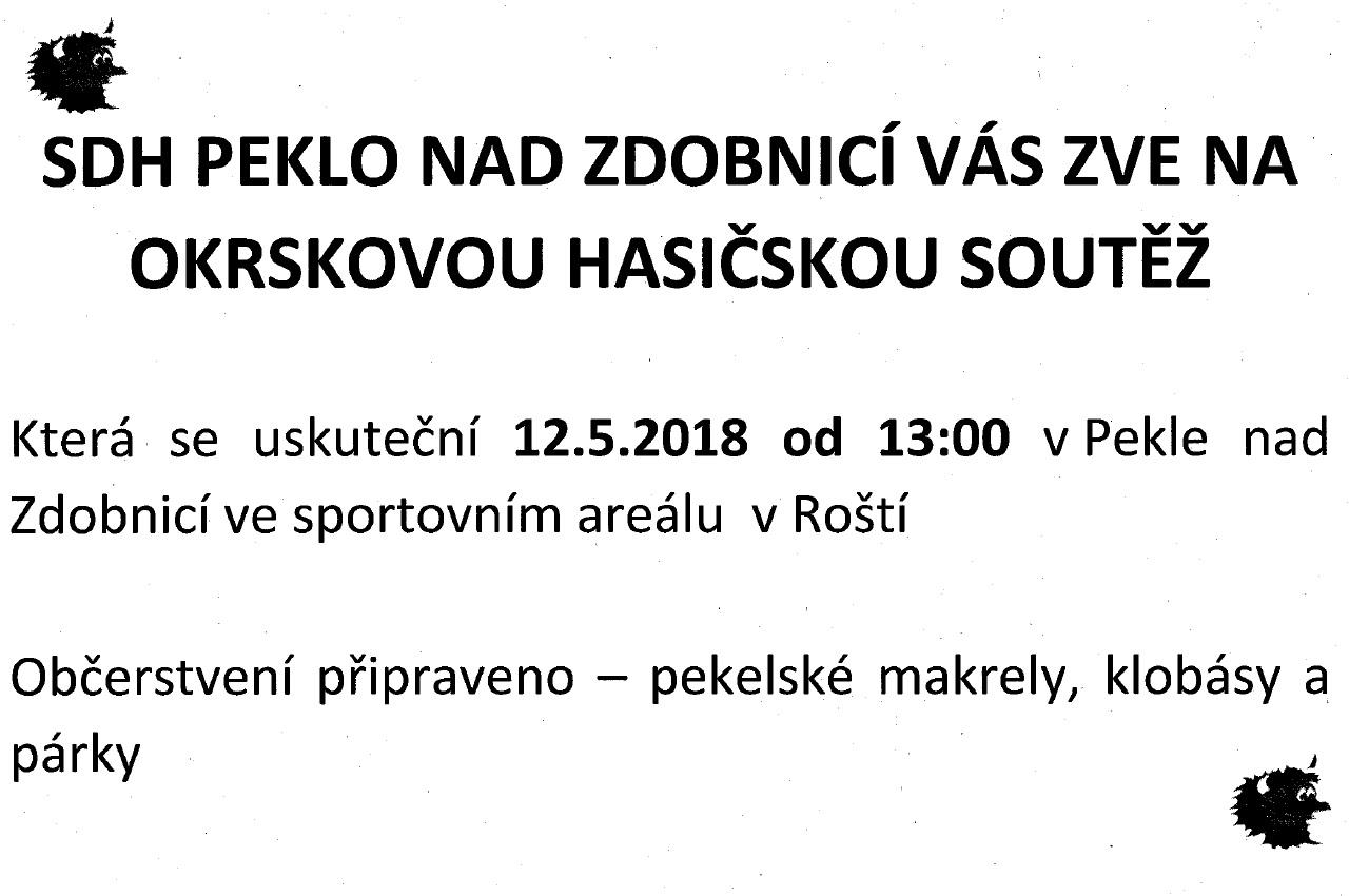 12.05.2018 - Hasičská soutěž Peklo