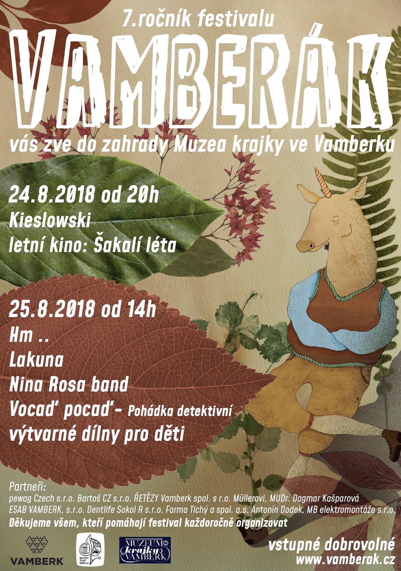 24. a 25.08.2018 -Festival Vamberák