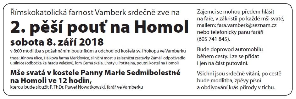 08.09.2018 - Pěší pouť na Homol