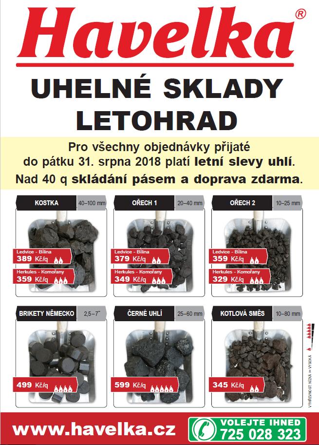 Nabídka - uhelné sklady Havelka