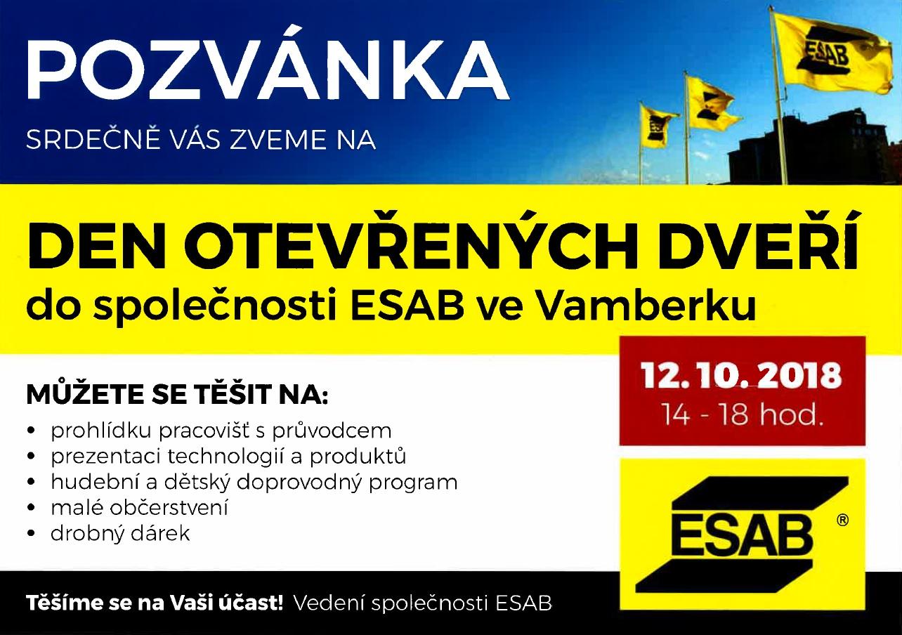 12.10.2018 - Den otevřených dveří ESAB