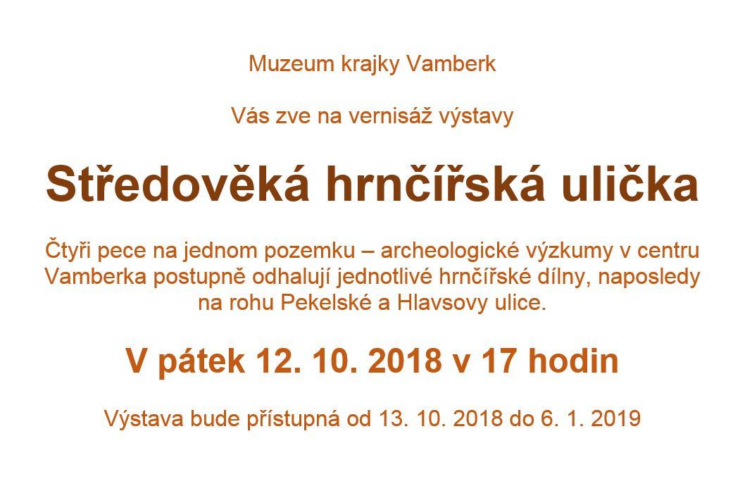 12.10.2018 - Středověká hrnčířská ulička