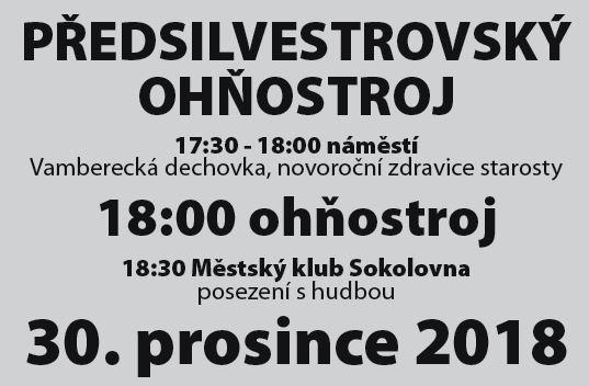 30.12.2018 - Předsilvestrovský ohňostroj