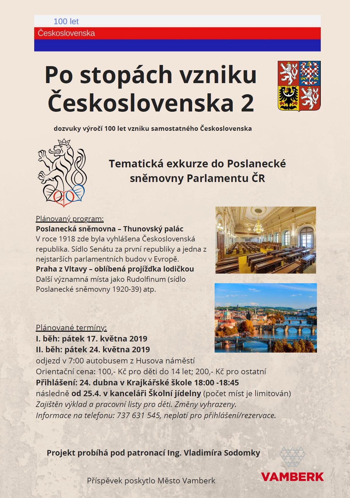 17. a 24.05.2019 - Po stopách vzniku Československa 2
