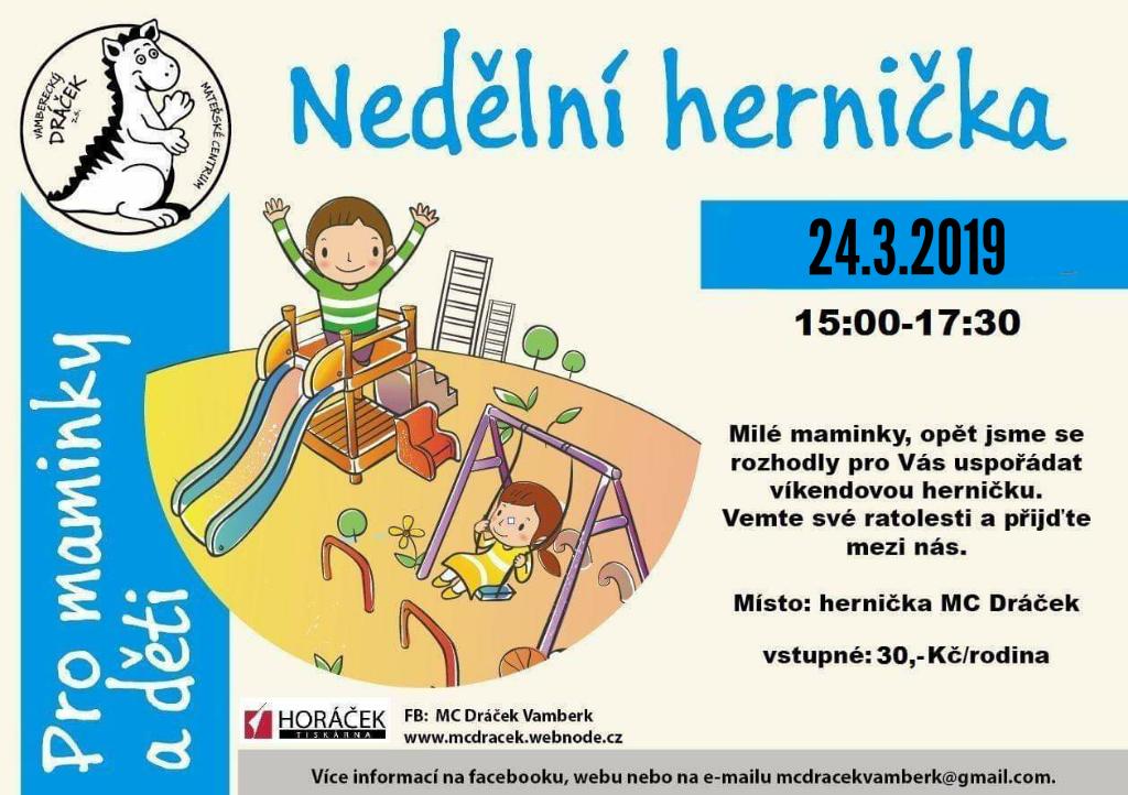 24.03.2019 - Nedělní hernička - MC Dráček