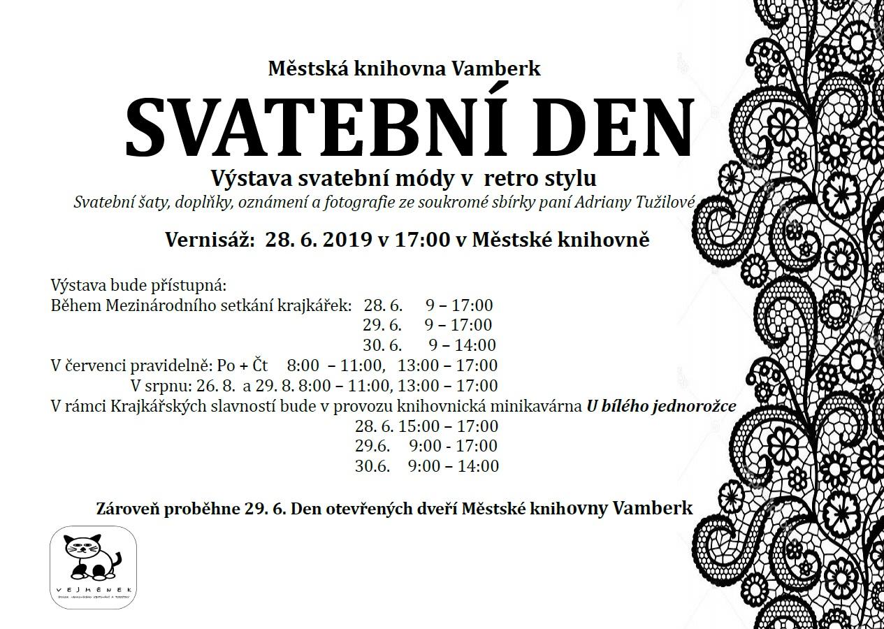 28.06.2019 - Svatební den - městská knihovna