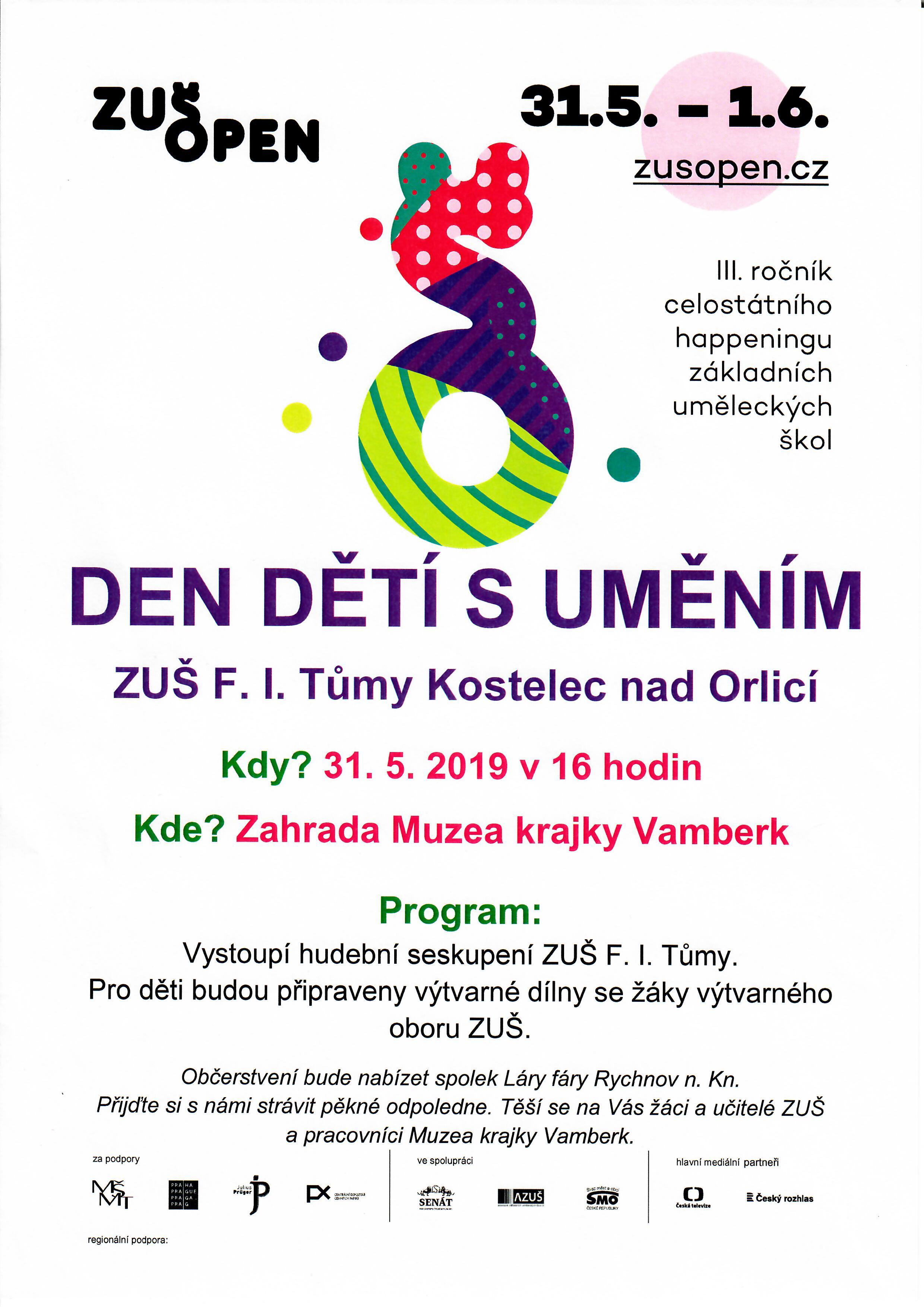 31.05. - 01.06.2019 - Den dětí s uměním