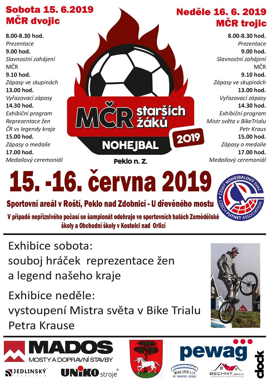 15. - 16.06.2019 - MČR Nohejbal Peklo