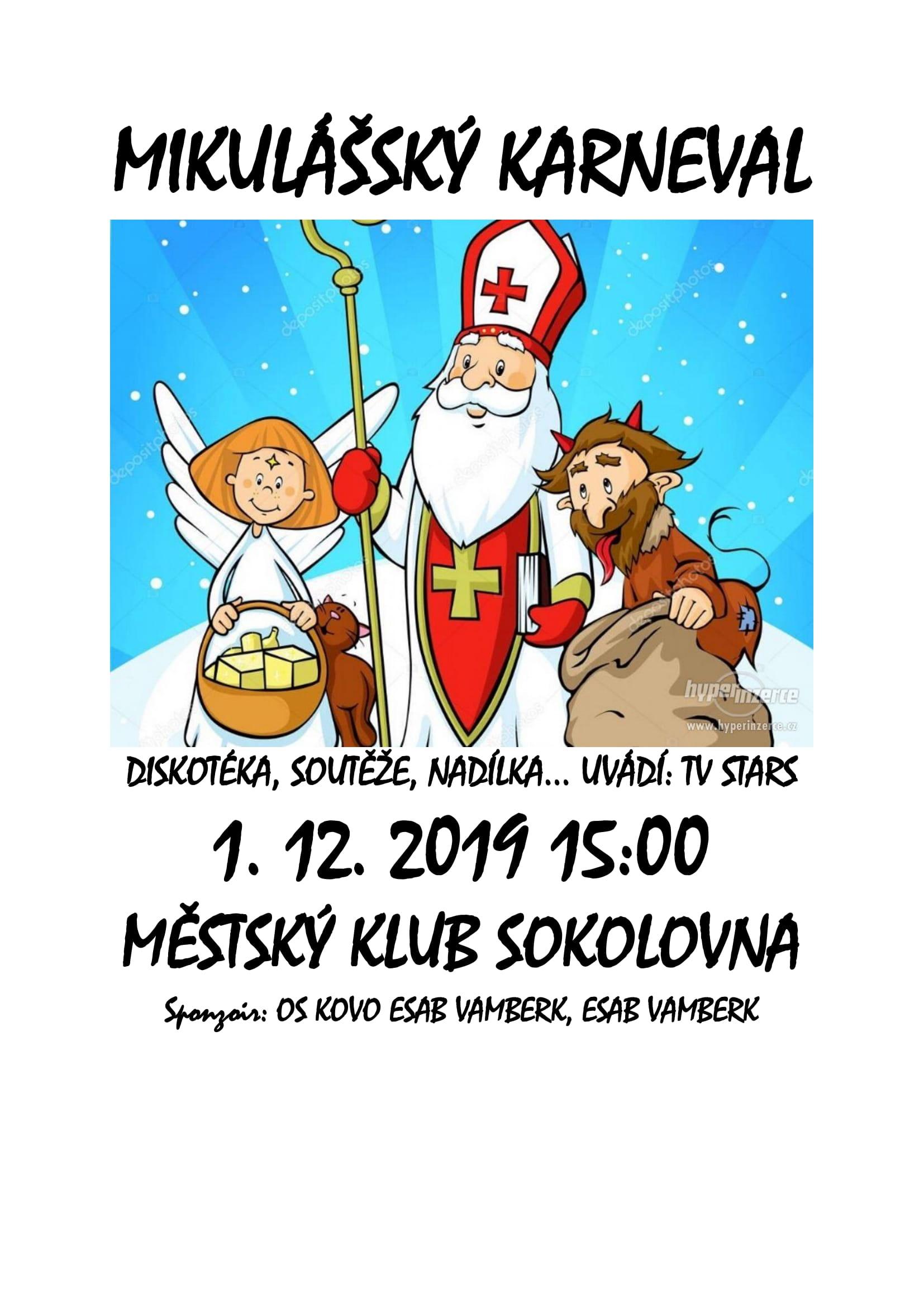 Plakát - Mikulášský karneval VZ-1