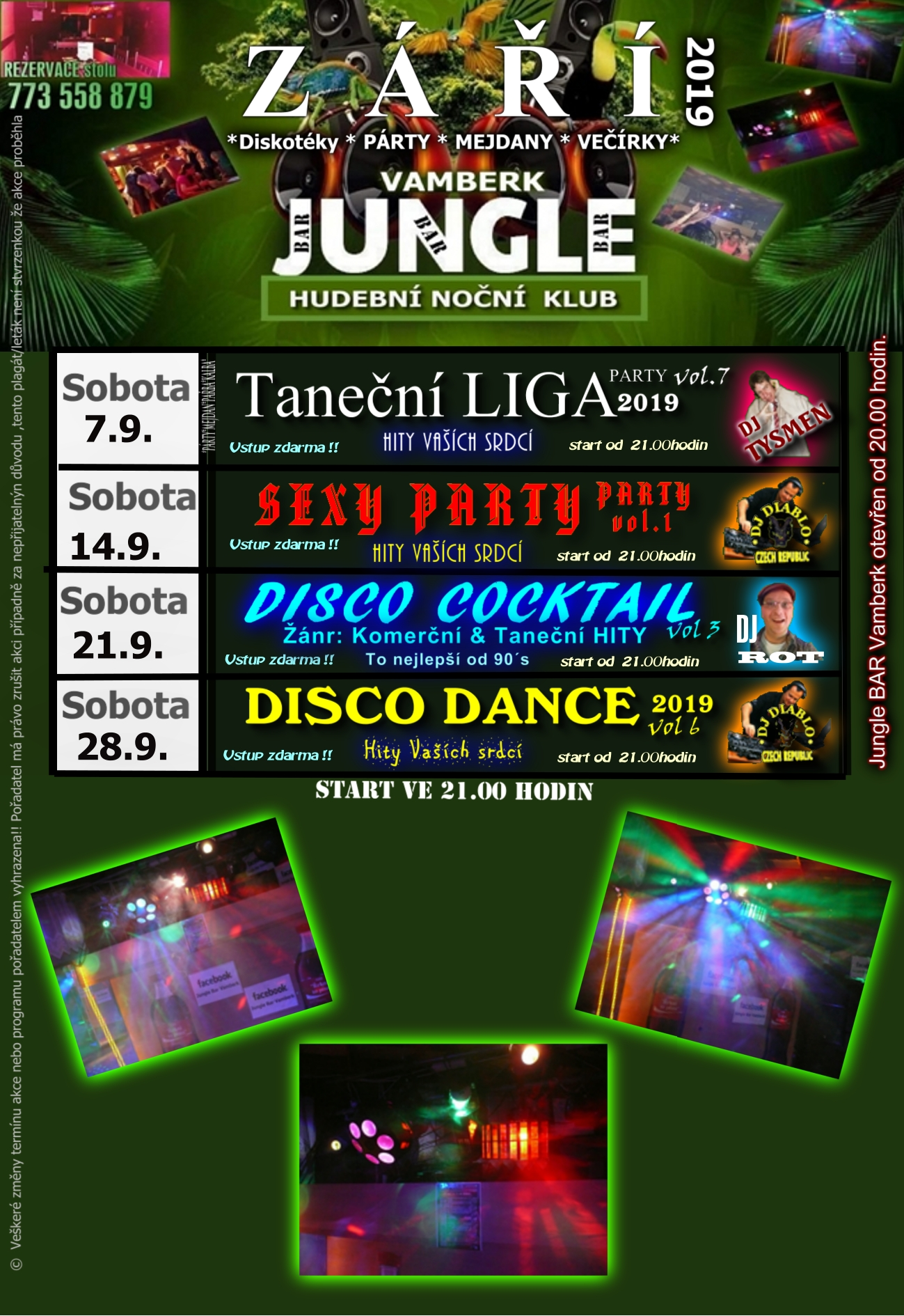 Jungle bar - program září