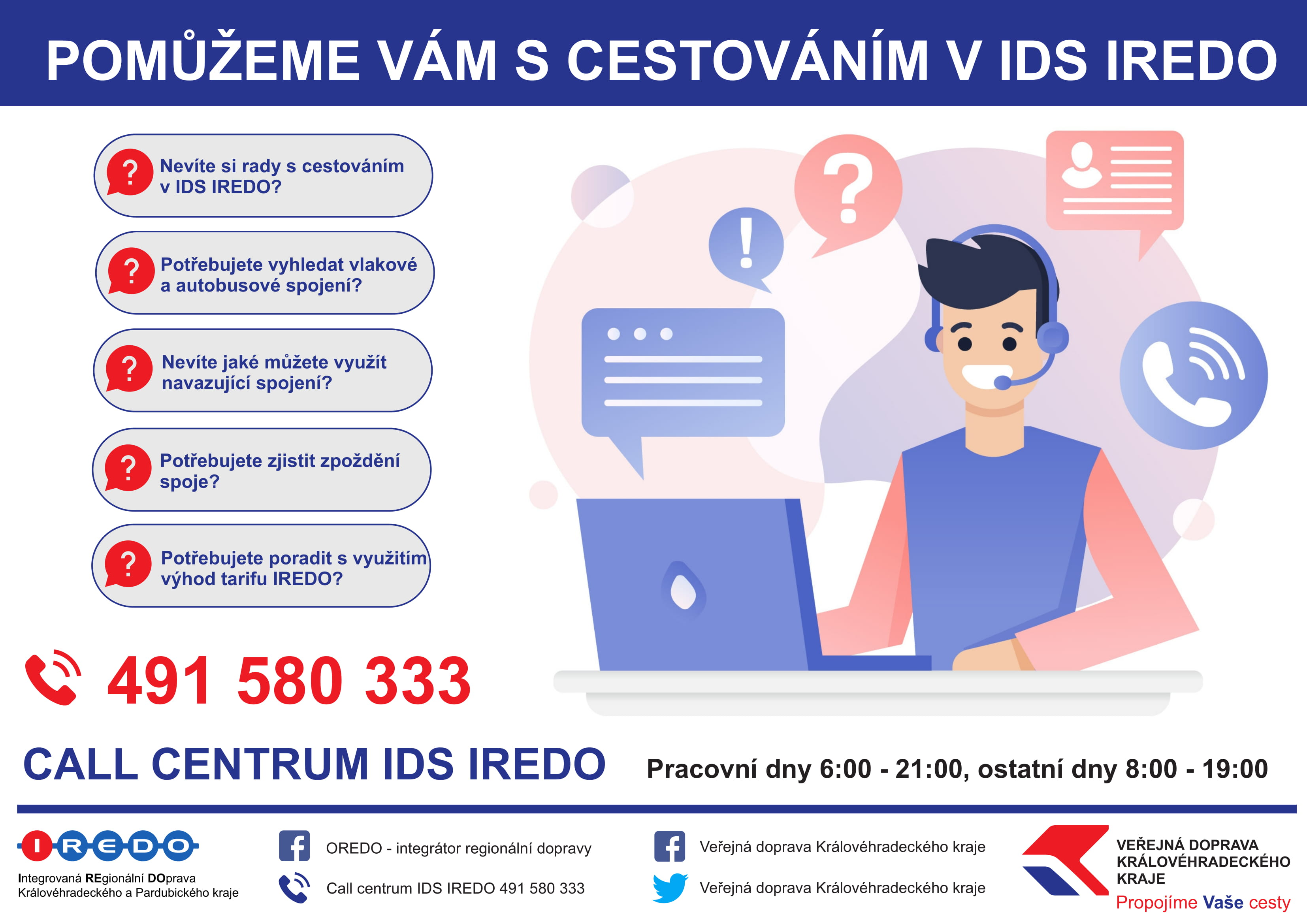 Call centrum IREDO