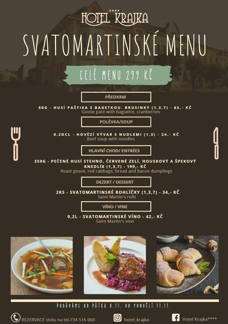 Hotel Krajka - Svatomartinské menu
