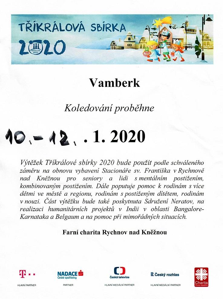 10. - 12.01.2020 - Tříkrálová sbírka
